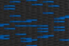 τρισδιάστατη απόδοση των μαύρων πλαστικών κυμάτων μεταλλινών με τα χρωματισμένα στοιχεία Στοκ φωτογραφία με δικαίωμα ελεύθερης χρήσης