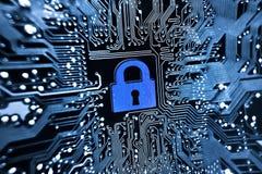 τρισδιάστατη ασφάλεια μηνυτόρων απεικόνισης υπολογιστών Στοκ Φωτογραφία