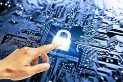 τρισδιάστατη ασφάλεια μηνυτόρων απεικόνισης υπολογιστών Στοκ Εικόνες