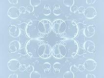 τρισδιάστατη αφαίρεση απεικόνισης, κύκλων και σφαιρών Στοκ εικόνες με δικαίωμα ελεύθερης χρήσης