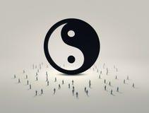 τρισδιάστατη εικόνα έννοιας ισορροπίας που δίνεται Στοκ εικόνα με δικαίωμα ελεύθερης χρήσης