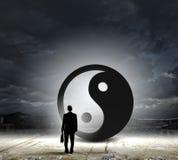 τρισδιάστατη εικόνα έννοιας ισορροπίας που δίνεται Στοκ Εικόνα