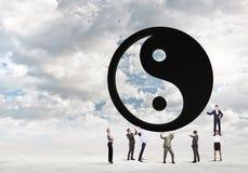 τρισδιάστατη εικόνα έννοιας ισορροπίας που δίνεται Στοκ εικόνες με δικαίωμα ελεύθερης χρήσης