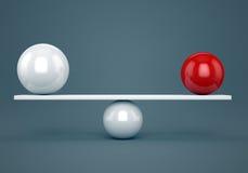 τρισδιάστατη εικόνα έννοιας ισορροπίας που δίνεται Στοκ φωτογραφία με δικαίωμα ελεύθερης χρήσης
