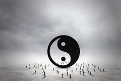 τρισδιάστατη εικόνα έννοιας ισορροπίας που δίνεται Στοκ Εικόνες