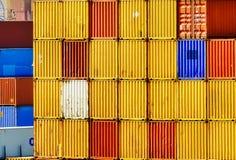 τρισδιάστατη εικόνα εμπορευματοκιβωτίων φορτίου που δίνεται Στοκ Φωτογραφίες