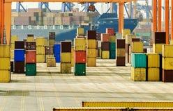 τρισδιάστατη εικόνα εμπορευματοκιβωτίων φορτίου που δίνεται Στοκ Φωτογραφία