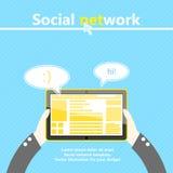 τρισδιάστατη εικόνα δικτύων που καθίσταται κοινωνική Υπολογιστής ταμπλετών διαθέσιμος Στοκ φωτογραφίες με δικαίωμα ελεύθερης χρήσης
