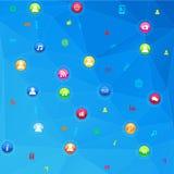 τρισδιάστατη εικόνα δικτύων που καθίσταται κοινωνική Στοκ Εικόνες