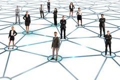 τρισδιάστατη εικόνα δικτύων που καθίσταται κοινωνική Στοκ Φωτογραφία