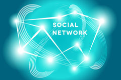 τρισδιάστατη εικόνα δικτύων που καθίσταται κοινωνική Στοκ Εικόνα