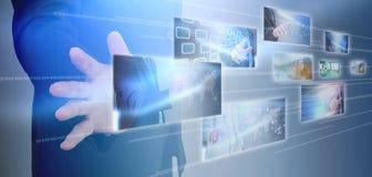τρισδιάστατη εικόνα δικτύων που καθίσταται κοινωνική Στοκ εικόνες με δικαίωμα ελεύθερης χρήσης