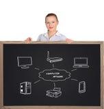 τρισδιάστατη εικόνα δικτύων υπολογιστών που δίνεται Στοκ Φωτογραφία