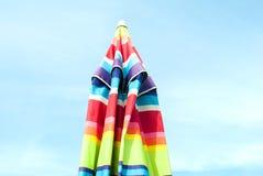 τρισδιάστατη εικόνα χρώματος που δίνεται την ομπρέλα Στοκ Φωτογραφία