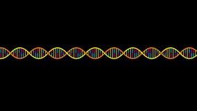 τρισδιάστατη εικόνα DNA που δίνεται το σκέλος φιλμ μικρού μήκους