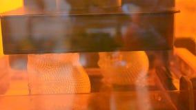 τρισδιάστατη εκτύπωση εκτυπωτών photopolymer απόθεμα βίντεο
