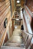 τρισδιάστατη επιτυχία σκαλοπατιών απεικόνισης έννοιας ξύλινη Στοκ φωτογραφία με δικαίωμα ελεύθερης χρήσης