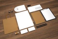 Τρισδιάστατη επιχείρηση απεικόνισης προτύπων με την τσάντα και τα σημειωματάρια αγορών Στοκ Φωτογραφία