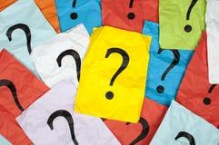 τρισδιάστατη ερώτηση σημαδιών απεικόνισης που δίνεται Στοκ Φωτογραφίες