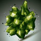 τρισδιάστατη ζωηρόχρωμη σύγχρονη μοντέρνη αφηρημένη κατασκευή πλέγματος, origami Στοκ Εικόνα