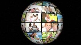 τρισδιάστατη ζωτικότητα της οικογενειακής ζωής απόθεμα βίντεο