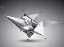 τρισδιάστατη διανυσματική αφηρημένη απεικόνιση τεχνολογίας, γεωμετρικό unus προοπτικής