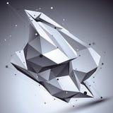 τρισδιάστατη διανυσματική αφηρημένη τεχνολογική απεικόνιση, προοπτική geome Στοκ φωτογραφία με δικαίωμα ελεύθερης χρήσης