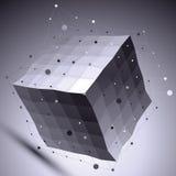 τρισδιάστατη διανυσματική αφηρημένη τεχνολογική απεικόνιση, σύνδεση Στοκ Εικόνες