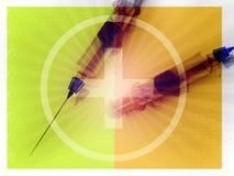 τρισδιάστατη ιατρική σύριγγα Στοκ φωτογραφία με δικαίωμα ελεύθερης χρήσης