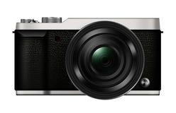 τρισδιάστατη κάμερα Mirrorles φακών απεικόνισης ανταλλάξιμη που απομονώνεται στοκ φωτογραφία