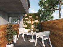 τρισδιάστατη καρέκλα πεζουλιών συνεδρίασης απόδοσης κοντά στη φύση Στοκ φωτογραφίες με δικαίωμα ελεύθερης χρήσης