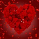 τρισδιάστατη καρδιά φιαγμένη από καρδιές Στοκ Φωτογραφία
