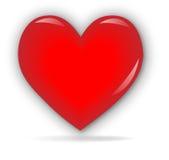 τρισδιάστατη καρδιά Στοκ Εικόνες