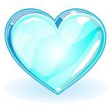 Τρισδιάστατη καρδιά ICE _ Στοκ Εικόνες