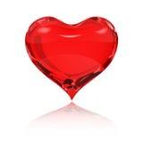 τρισδιάστατη κόκκινη αντανάκλαση εικόνας καρδιών διανυσματική απεικόνιση