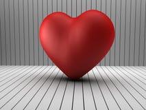τρισδιάστατη μορφή καρδιών σε ένα δωμάτιο κούτσουρων Στοκ εικόνα με δικαίωμα ελεύθερης χρήσης