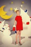 τρισδιάστατη νύχτα φεγγαριών απεικόνισης Στοκ εικόνες με δικαίωμα ελεύθερης χρήσης