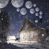 τρισδιάστατη νύχτα φεγγαριών απεικόνισης Στοκ εικόνα με δικαίωμα ελεύθερης χρήσης
