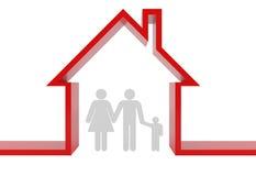 τρισδιάστατη οικογένει&alph Στοκ φωτογραφία με δικαίωμα ελεύθερης χρήσης