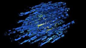 τρισδιάστατη παραγμένη αφηρημένη διαστημική δομή Στοκ Εικόνες