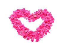 τρισδιάστατη παραγμένη λουλούδια εικόνα καρδιών Στοκ Εικόνες