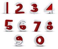 τρισδιάστατη περίληψη αριθμών Στοκ Εικόνα