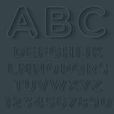 τρισδιάστατη περίληψη με το σύνολο αλφάβητου σκιών Στοκ Εικόνες