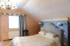 τρισδιάστατη περιβαλλοντική εσωτερική αστραπή κρεβατοκάμαρων που δίνεται Στοκ εικόνα με δικαίωμα ελεύθερης χρήσης