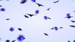 τρισδιάστατη πτώση λουλουδιών απεικόνιση αποθεμάτων