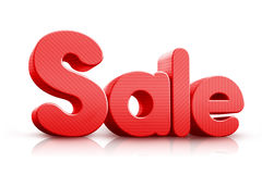 τρισδιάστατη πώληση Word στο κόκκινο χρώμα Στοκ Φωτογραφίες