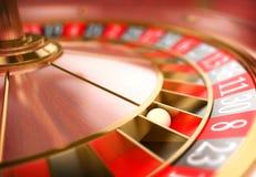 τρισδιάστατη ρουλέτα χαρτοπαικτικών λεσχών Έννοια παιχνιδιού Στοκ Φωτογραφίες