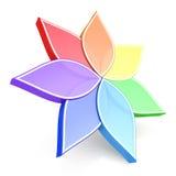 τρισδιάστατη ρόδα λουλουδιών χρώματος Στοκ Εικόνα