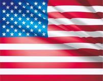 τρισδιάστατη σημαία ΗΠΑ Στοκ Εικόνα