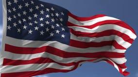 τρισδιάστατη σημαία ΗΠΑ απόθεμα βίντεο